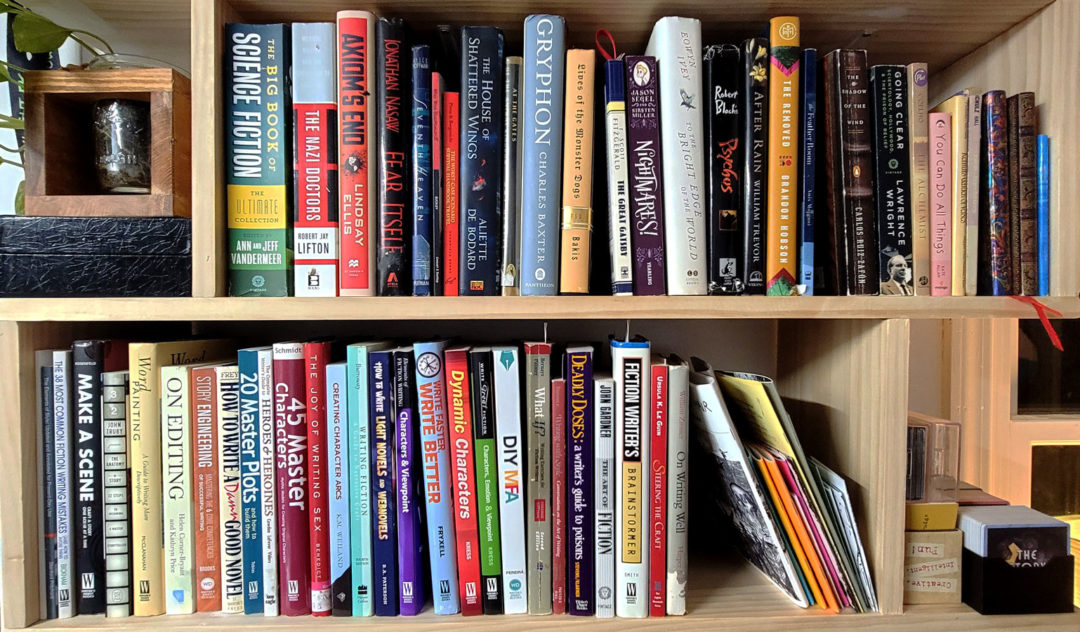 A picture of my bookshelf